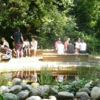 Our new pond area is relaxing and calm